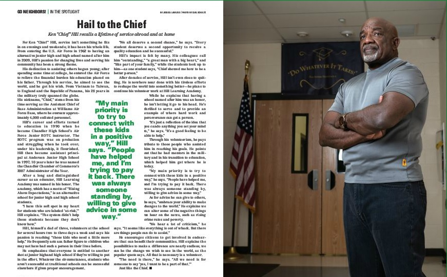 "Photo of Ken ""Chief"" Hill, the article's subject"