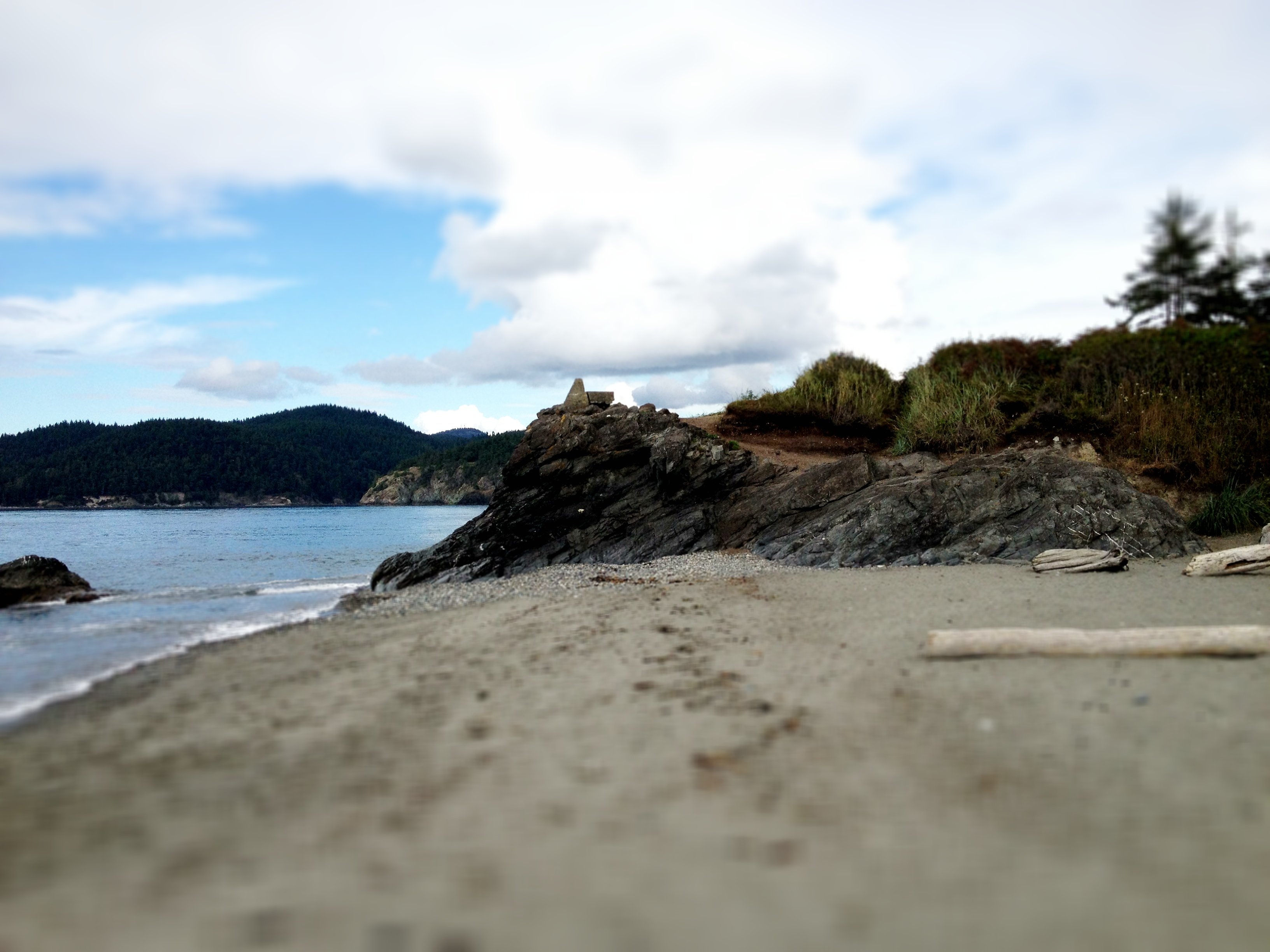 A photo of Whidbey Island beach