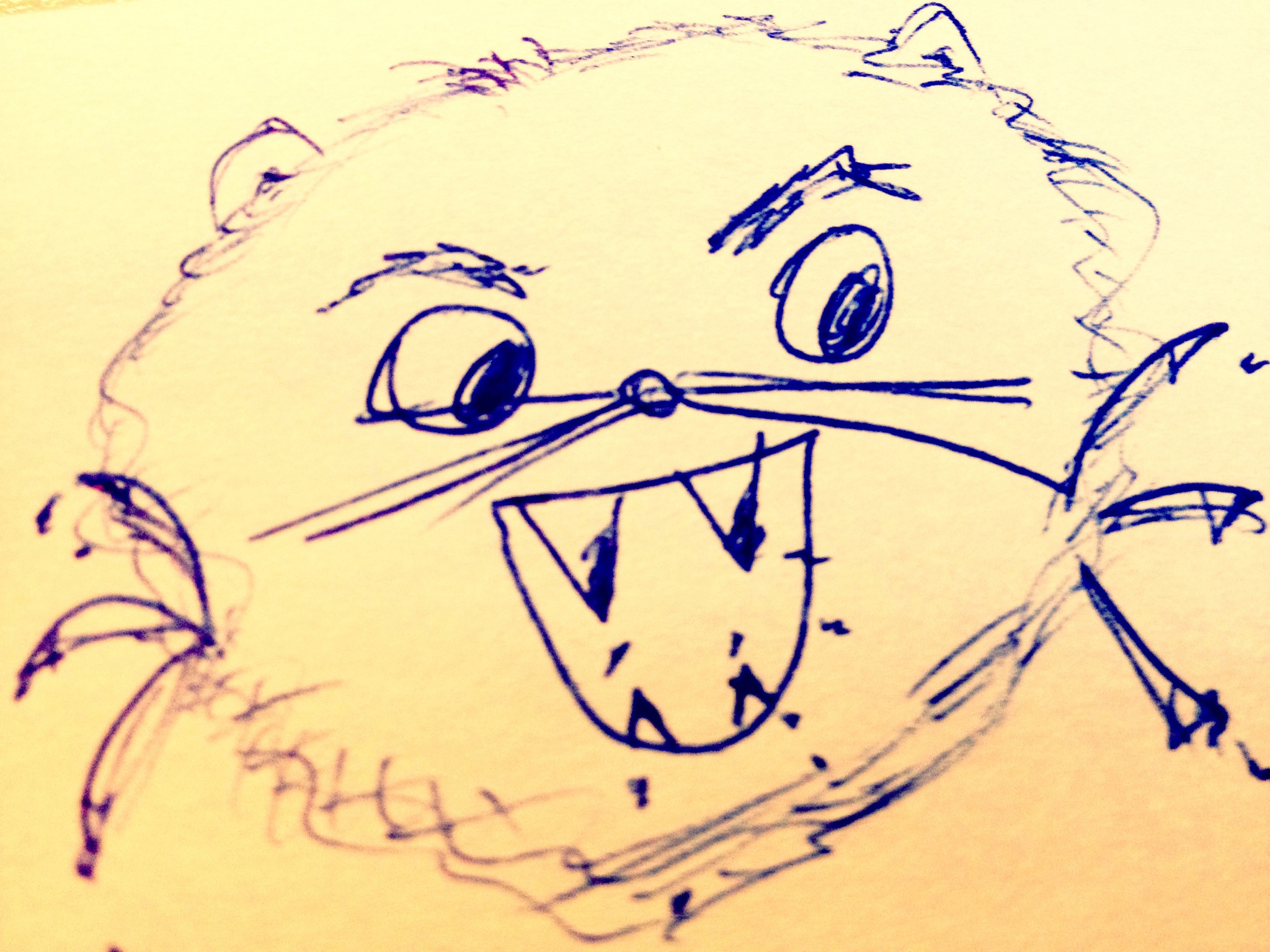 Crudely drawn mouse