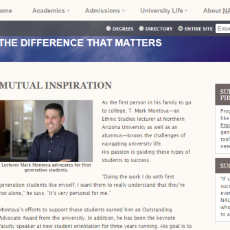 Screenshot of web story