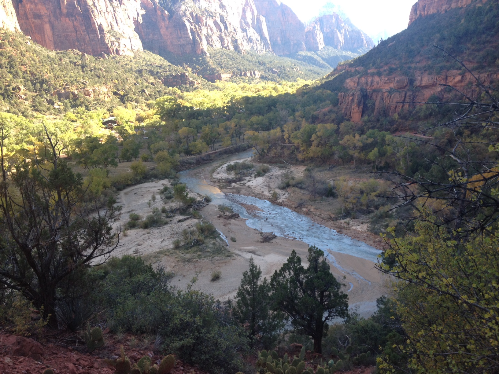 Photo of river and cliffs in Zion National Park
