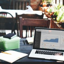 Lead generation photo with workspace and laptop